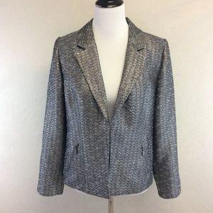 CHICO'S metallic tweed blazer